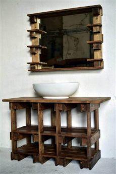 pallet wood bathroom vanity pallets wood bathroom mirror and vanity 99 pallets