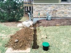 gutter downspout drainage ideas underground downspout diverter extension keeps roof water away from foundation waterproof