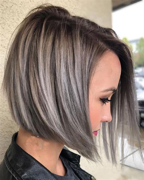 asymmetrical short haircuts balayage highlights 2018 2019 hairstyles