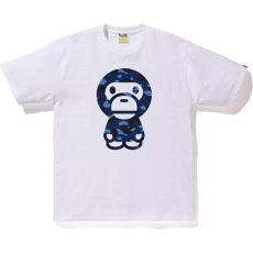baby blue bape shirt bape color camo baby milo white blue modesens