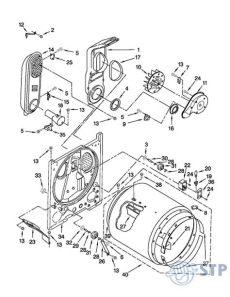 partes de secadora whirlpool stp appliances diagrama cilindro tina 7ewgd1510ym1 secadora whirlpool