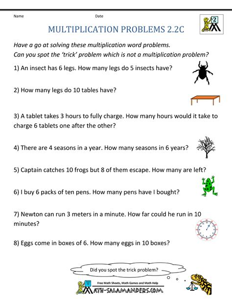 multiplication word problem area 2nd grade