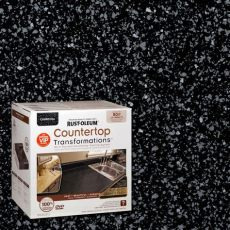 rust oleum transformations 70 oz charcoal large countertop kit 258285 the home depot - Rustoleum Charcoal Countertop Transformation Kit Review