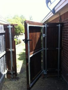 metal framed wooden gates sheffield wood gates dfw fence contractor