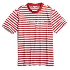 trends for asap rocky guess striped t shirt trend style - Guess X Asap Rocky T Shirt Red