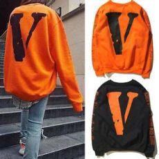 vlone x off white felpa vlone x white virgil abloh v printing sweatshirt hoodies unisex uk seller ebay