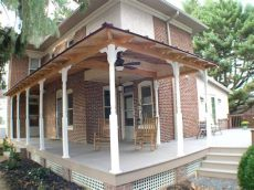 how to build a wrap around porch on a mobile home wrap around porch traditional porch philadelphia by creek design