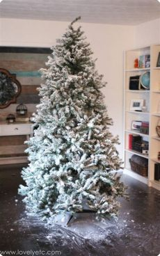 give your tree a flocking this christmas vancouver diy flocked tree one year later lovely etc