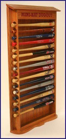 mini baseball bat rack display wooden mini bat dugout rack vintage baseball room