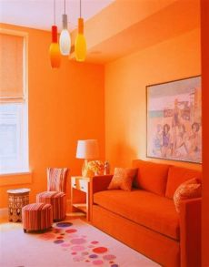 decoracion de salas pequenas modernas color naranja salas decoradas en naranja colores en casa
