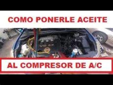 como ponerle aceite a un compresor como ponerle aceite a un compresor de aire acondicionado automotriz