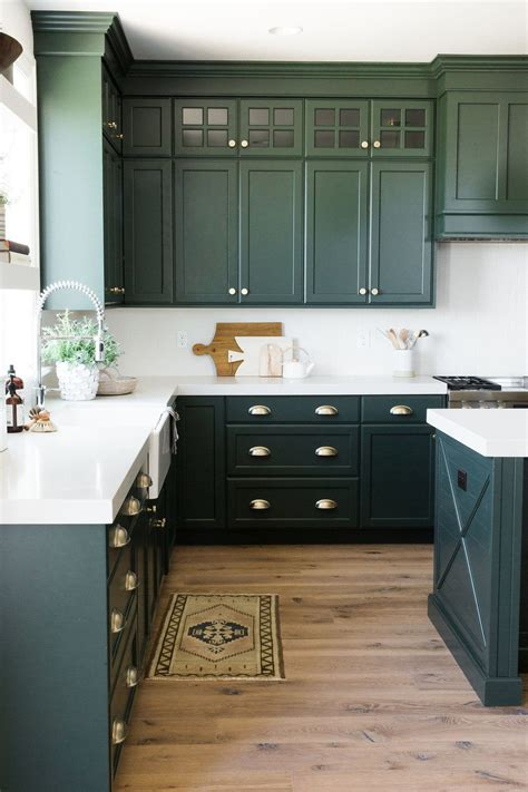 parade home reveal pt 1 green kitchen cabinets