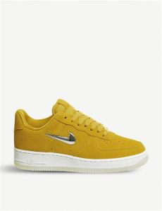 air force one jewel suede nike air 1 suede trainers in yellow for lyst