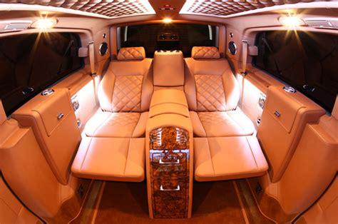 custom mercedes benz vans maybachs minivans