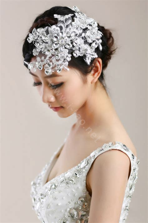 buy wholesale wedding bride jewelry crystal flower headband