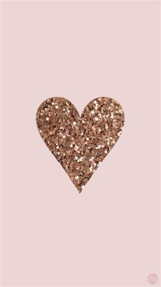 gold wallpapers wallpaper cave - Glitter Rose Gold Heart Wallpaper