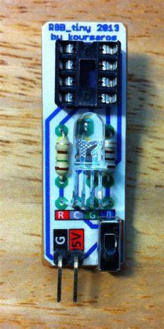 arduino and attiny85 projects rgb tiny rgb led controlled by attiny85 - Attiny85 Led Projects