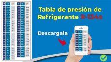 tabla de presiones para refrigerante 134a descargable - Presiones De Trabajo R134a