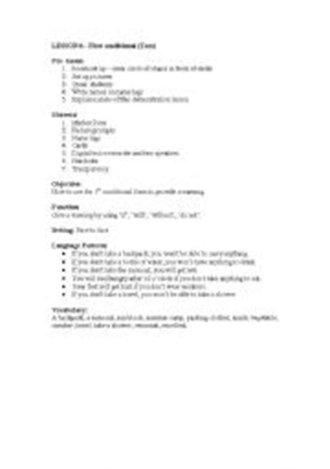 lesson plan conditional esl worksheet eminemxu 27