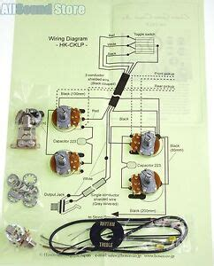wiring kit gibson epiphone les paul complete diagram