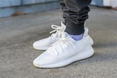 yeezy boost triple white on feet see how the adidas yeezy boost 350 v2 white look on in this review