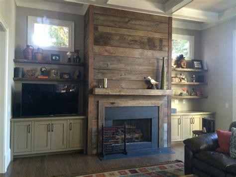 reclaimed wood fireplaces atlanta rustic family