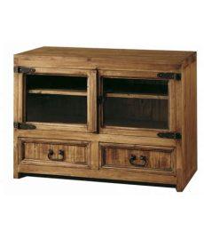 muebles rusticos de tv comprar mueble tv de madera de estilo rustico de 100 cm de ancho