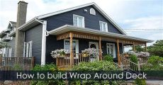 how to build a wrap around porch on a mobile home how to build a deck raised deck and wrap around porch design ideas