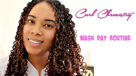 wash day routine curl chemistry youtube