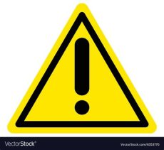 attention sign vector warning attention sign royalty free vector image