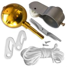 flagpole pulley kit flag pole parts repair kit 2 quot dia truck pulley gold cleat clip rope us flag ebay