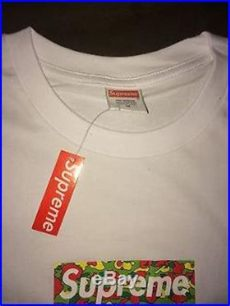 2002 bape supreme box logo t shirt m new a bathing ape psyche camo - Supreme Bape Box Logo 2002