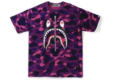 purple bape t shirt bape color camo shark purple ss19
