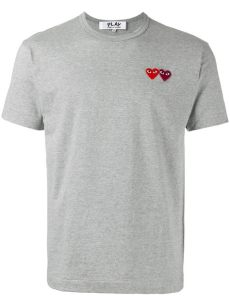 comme des garcons play t shirt real vs fake comme des gar 231 ons cotton play t shirt in grey gray for lyst