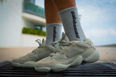 adidas yeezy 500 quot salt quot on foot look hypebeast - Adidas X Kanye West Yeezy 500 Salt Salt Salt
