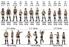 height and weight for all attack on titan character fandom - Attack On Titan Characters Height And Weight