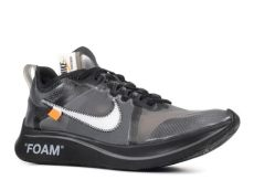 nike zoom fly off white black silver on foot white nike zoom fly black silver kickstw