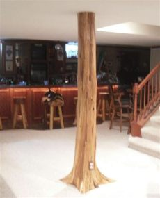 authentic cedar basement pole covers support post wrap rustic lodge tree ebay - Pole Wrap Ideas