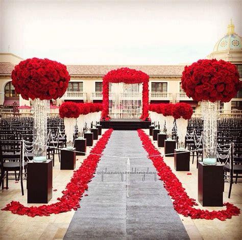 red black white ceremony weddingideasblackandwhite red wedding decorations