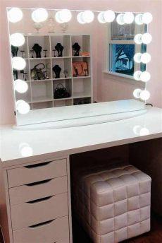 31 fascinantes tocadores con espejo que te encantar 225 n makeup table vanity vanity table - Tocadores De Madera Con Luz