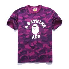 purple bape t shirt bape camo t shirt blvcks culture quality replica