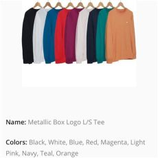 supreme metallic box logo ls light orange - Supreme Metallic Box Logo Ls Tee Teal