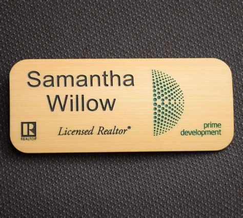3 5x1 5 engraved bamboo badge 2 color