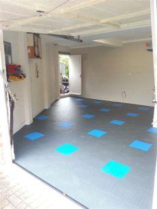 transform a concrete garage floor with mototile interlocking tiles - Seamless Garage Floor Tiles