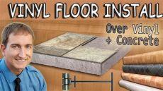 vinyl plank flooring installation on concrete how to install vinyl sheet flooring existing vinyl and concrete