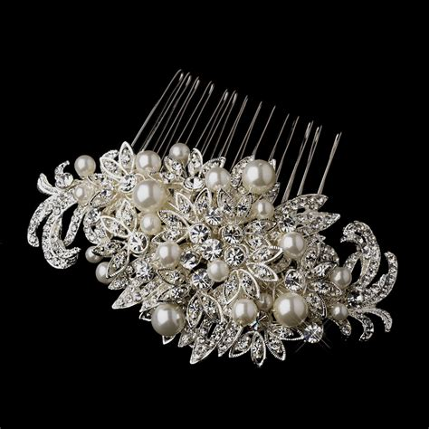 fabulous crystal pearl bridal comb elegant bridal hair