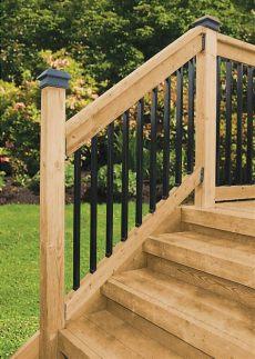 veranda railing kits veranda deck stair railing kits rectangular balusters peak products canada