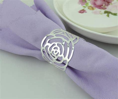 silver gold napkin rings wedding napkin holder wedding