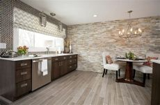 faux wood tile in kitchen contemporary cabinetry faux wood floor tile stacked