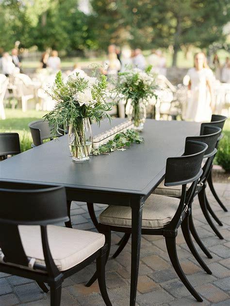 simple elegant outdoor wedding reception wed